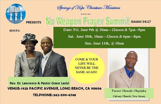 No Weapon Prayer Summit 2017